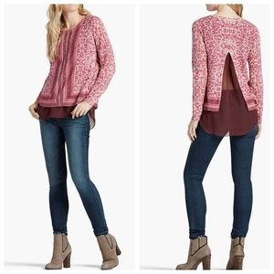 Lucky Brand • Floral Printed Tunic Sweater